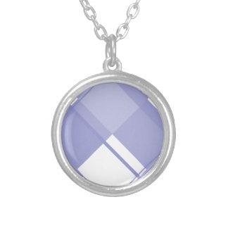 Tulipán de la violeta de la tela escocesa 3 colgantes personalizados
