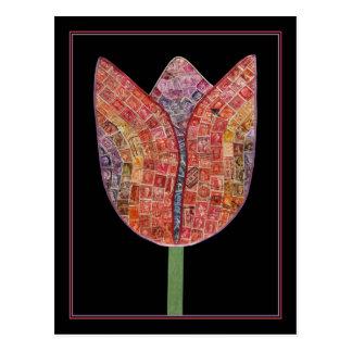 Tulipán de los sellos - postal