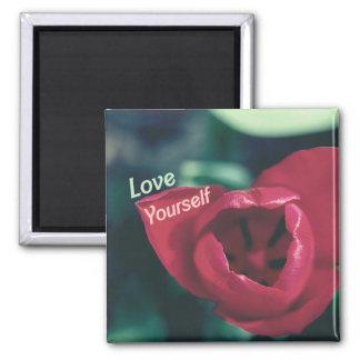 Tulipán del amor propio del amor usted mismo imanes