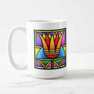tulipán del vitral/taza del loto taza clásica