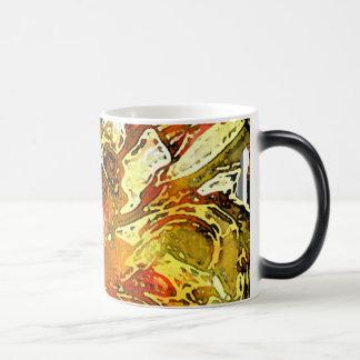 Tulipán doble: Amarillo y rojo Taza De Café