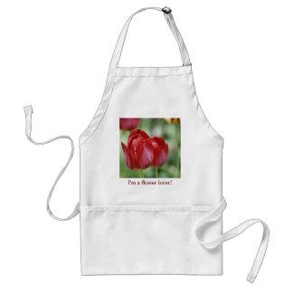 Tulipán hermoso y Waterdrops Delantales