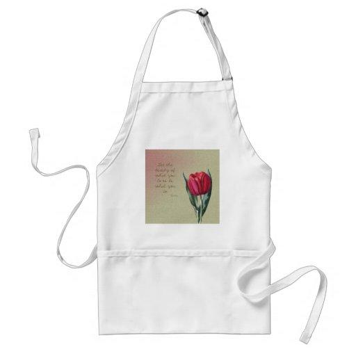 Tulipán inspirado de la belleza delantal