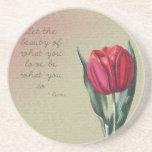 Tulipán inspirado de la belleza posavasos manualidades