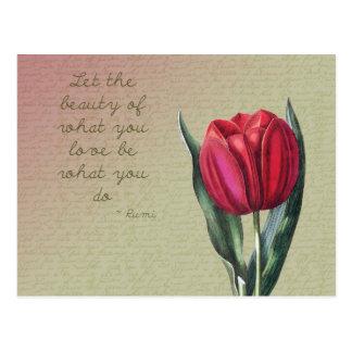 Tulipán inspirado de la belleza tarjeta postal