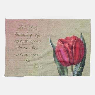 Tulipán inspirado de la belleza toalla de mano