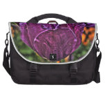 tulipán púrpura 2 bolsas de portatil