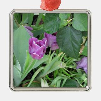 Tulipán púrpura adorno de navidad