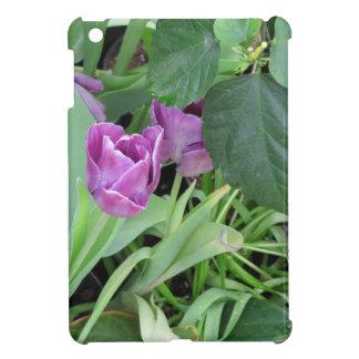 Tulipán púrpura iPad mini protectores