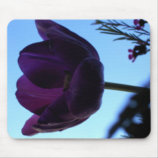 Tulipán púrpura tapete de ratones