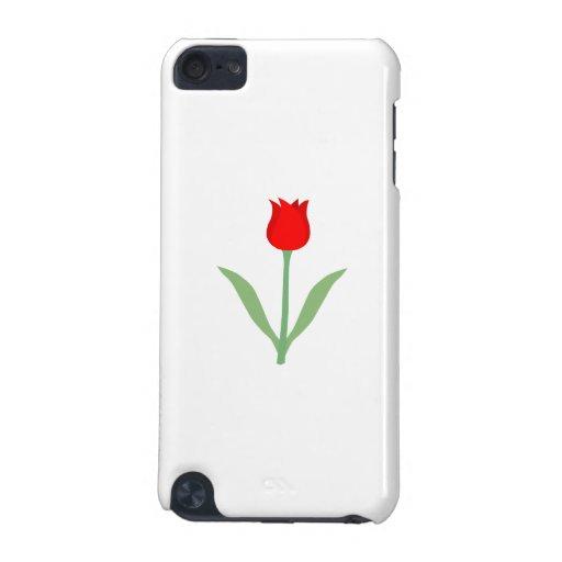 Tulipán rojo brillante elegante