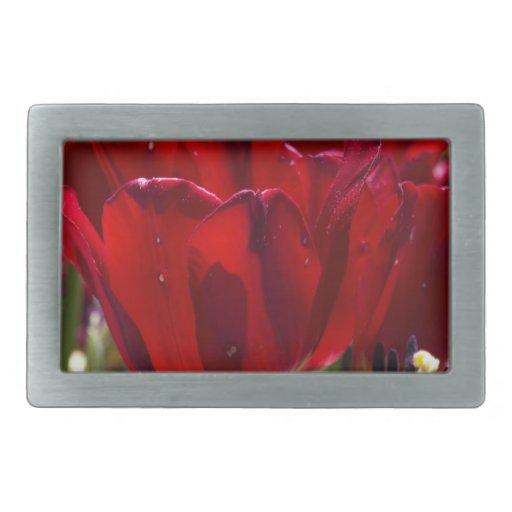 Tulipán rojo hebilla de cinturon