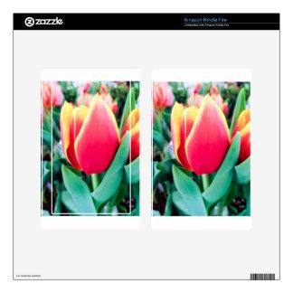 ¡Tulipán rojo - personalizable! Skins Para Kindle Fire