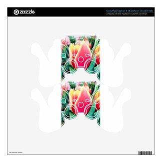 ¡Tulipán rojo - personalizable! Skins Para Mando PS3