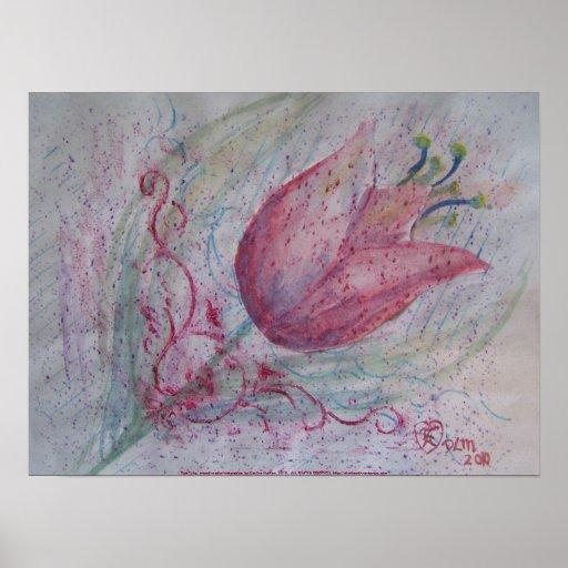 Tulipán rojo póster