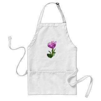 Tulipán rosado de lujo delantal