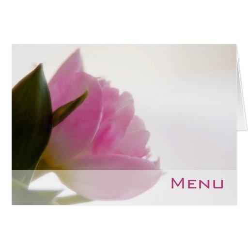 Tulipán rosado • Tarjeta del menú