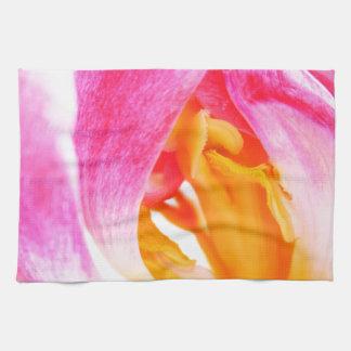 tulipán rosado toallas