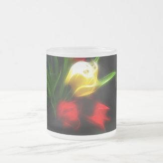 Tulipán suave taza de café esmerilada