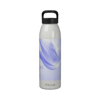 Tulipán vivo, risa, amor de la lila botellas de agua reutilizables