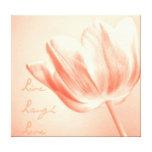 Tulipán vivo, risa, amor del melocotón impresion de lienzo