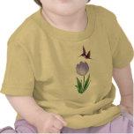 Tulipán y colibrí camiseta