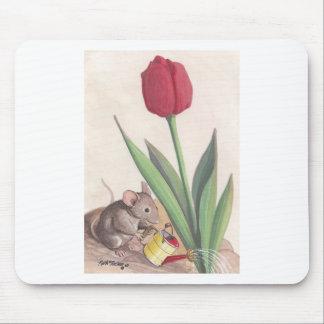 tulipán y ratón alfombrillas de ratones