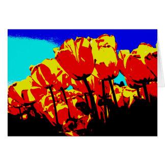 tulipanes 2 tarjeta de felicitación