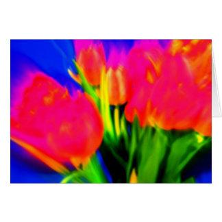 Tulipanes ácidos felicitaciones