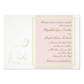 Tulipanes agraciados que casan la invitación