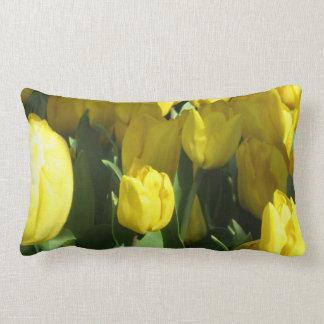 Tulipanes amarillos cojines