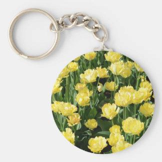 Tulipanes amarillos llaveros