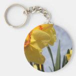 Tulipanes amarillos llavero personalizado