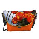 Tulipanes anaranjados 2 bolsas messenger