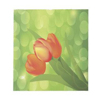 Tulipanes anaranjados bloc