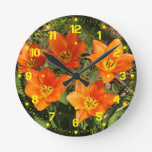 Tulipanes anaranjados relojes