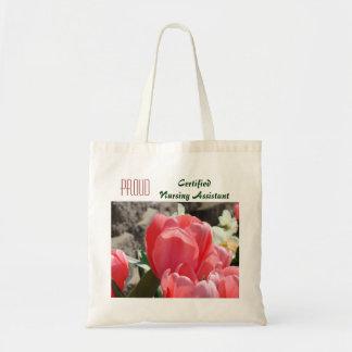 Tulipanes auxiliares de cuidado certificados bolsa tela barata