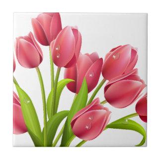Tulipanes Azulejo Cerámica