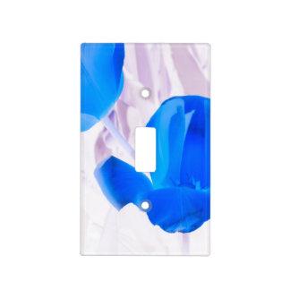 Tulipanes azules brillantes tapa para interruptor
