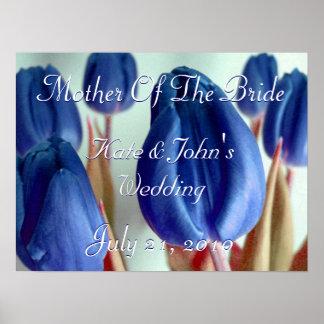 Tulipanes azules posters