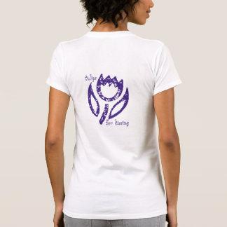 Tulipanes azules profundos para la parte posterior camisetas