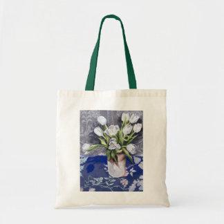 Tulipanes blancos 1994 bolsa tela barata