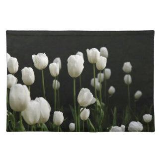 Tulipanes blancos manteles individuales