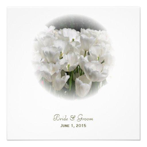 Tulipanes blancos que casan invitaciones invitaciones personalizada