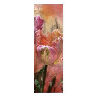 Tulipanes - colores de la señal del arte del amor tarjetas de visita