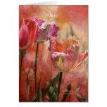 Tulipanes - colores del amor ArtCard Tarjeta De Felicitación