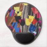 Tulipanes coloridos abstractos alfombrillas de ratón con gel