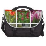 Tulipanes coloridos bolsas de portátil