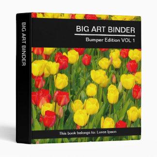Tulipanes coloridos grandes de la carpeta 041 (el