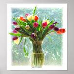 Tulipanes coloridos posters